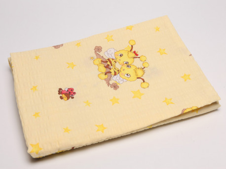 Obliečky žlté detské, motív včela, 90x130 + 40x60