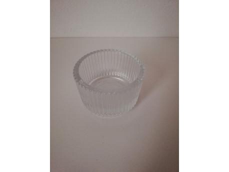 Svietnik na čajovú sviečku 3,5cm, vrúbkovaný