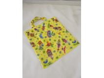 Nákupná taška skladacia, farebná, krátke uško
