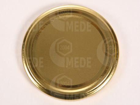 Viečko plechové zlaté 63mm