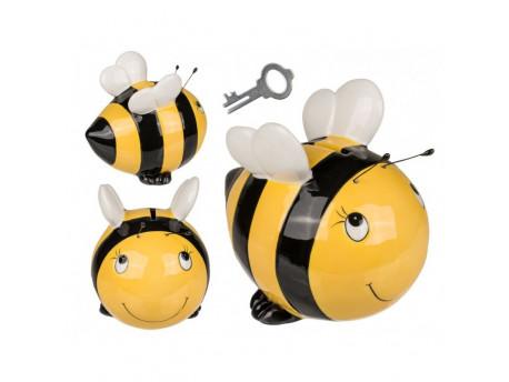 Keramická pokladníčka včela