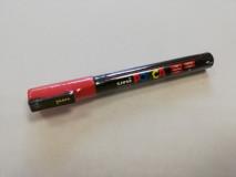 Anyajelölő toll - piros II, vékony