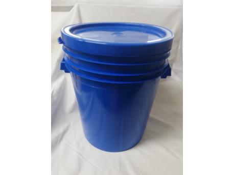 Műanyag edény fedéllel 35l - sötétkék