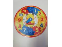 Puzzle hodiny - macík