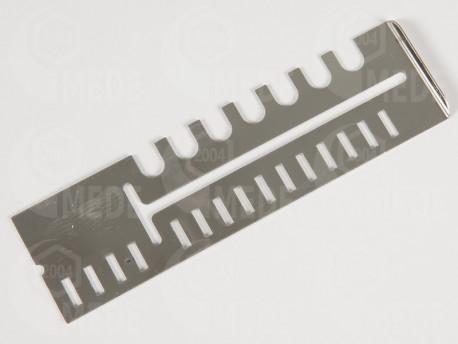 Kijárőszűkítő inox, 12,2x3,4cm