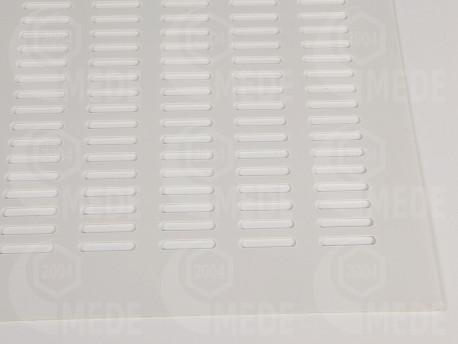 Műanyag anyarács fehér 400x400