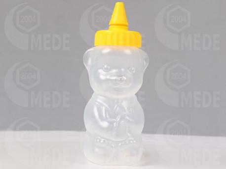 Műanyag mézes maci 250g sárga tetős
