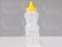 Plastový macík na 400g medu žltá špička