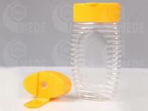 Plastový obal na 300g medu stláčací so silikónom
