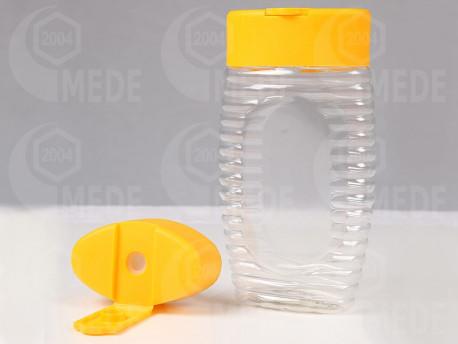 Kinyomós mézes flakon szilikonnal 300g