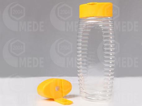 Kinyomós mézes flakon szilikonnal 500g