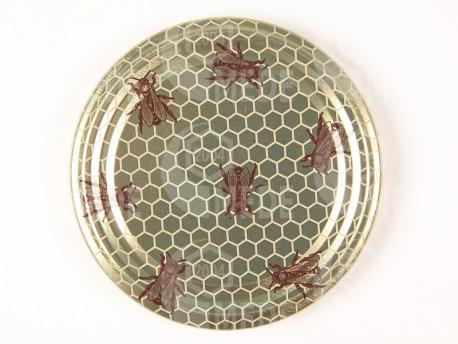 Viečko zlaté+plást+včely 82mm plechové