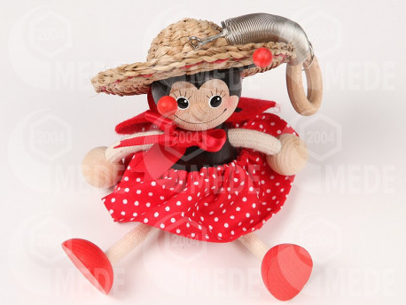 Rugós figura-katica kalapban