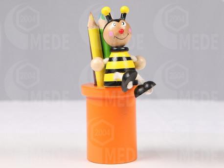 Ceruzatartó méhecskés, ceruzákkal