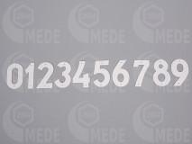 Číslice na úľ plast 1-10