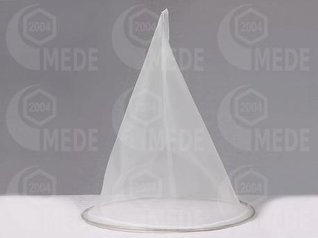 Kúp alakú mézszűrő, inox karimával, 240 μm