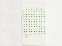 Zöld opalit számok