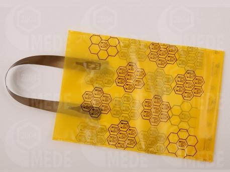 Darčeková taška na 1 kg medu žltá 25ks