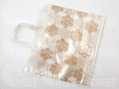 Darčeková taška na 2 x1 kg medu biela 25ks