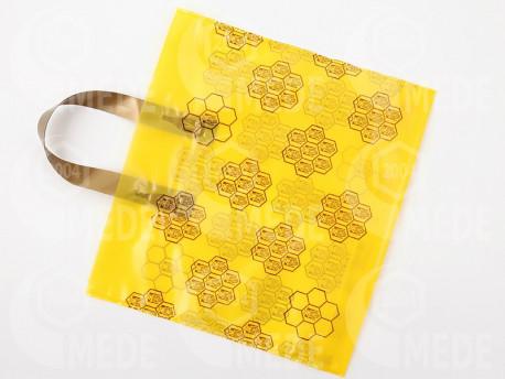 Darčeková taška na 2 x 1 kg medu žltá 25ks