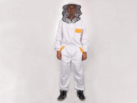 Méhészoverál kalappal XL
