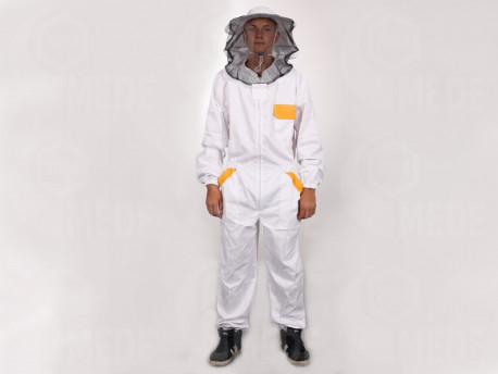 Méhészoverál kalappal 3XL
