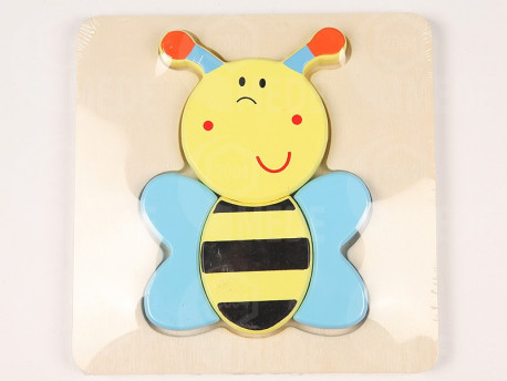 Puzzle drevené včela 3D