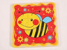 Puzzle drevené včela 9-dielne