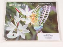 Puzzle drevený motýľ
