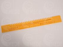 Műanyag kijárószűkítő, 43cm, sárga