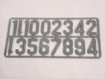 Čísla na úľ sada 1-10 sivá