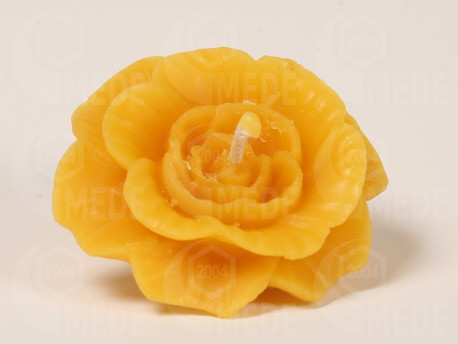 Sviečka ruža z včelieho vosku