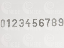 Číslice na úľ hliník 1-50