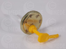 Dávkovač na med s viečkom zlatá, včely