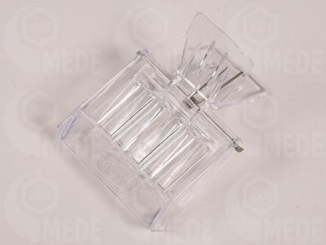 Výchytka matiek plastová - štipec, priesvitná