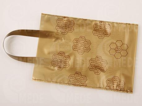 Darčeková taška na 1 kg medu zlatá