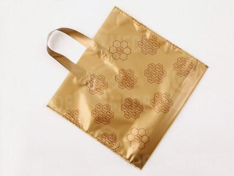 Darčeková taška na 2 x 1 kg medu zlatá