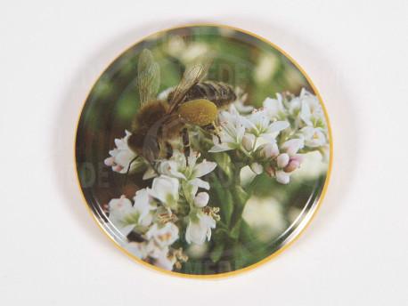 Viečko zelené+včela 82mm plechové