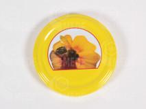 Viečko žlté+včela 66mm plechové