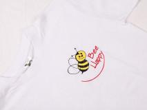Tričko biele Bee Happy XL