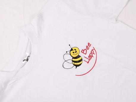 Tričko biele Bee Happy XXL