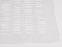 Materská mriežka plast - číra 435x465