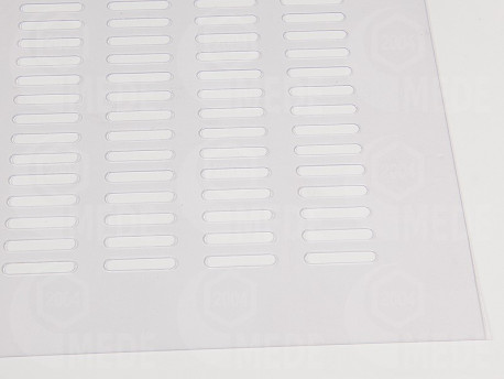 Műanyag anyarács - átlátszó 435x465