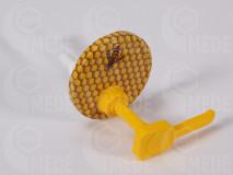 Dávkovač na med s viečkom oranž, 82mm