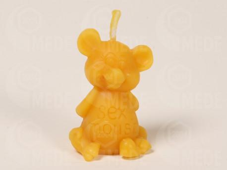 """Sviečka myš """"Sexy mouse"""" z včelieho vosku"""