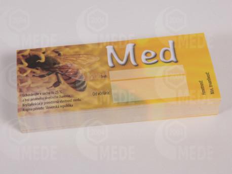 Etikett mézre 100db