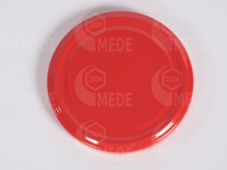 Viečko plechové červené, sterilné, 82mm
