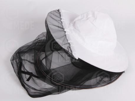 Včelársky klobúk biely